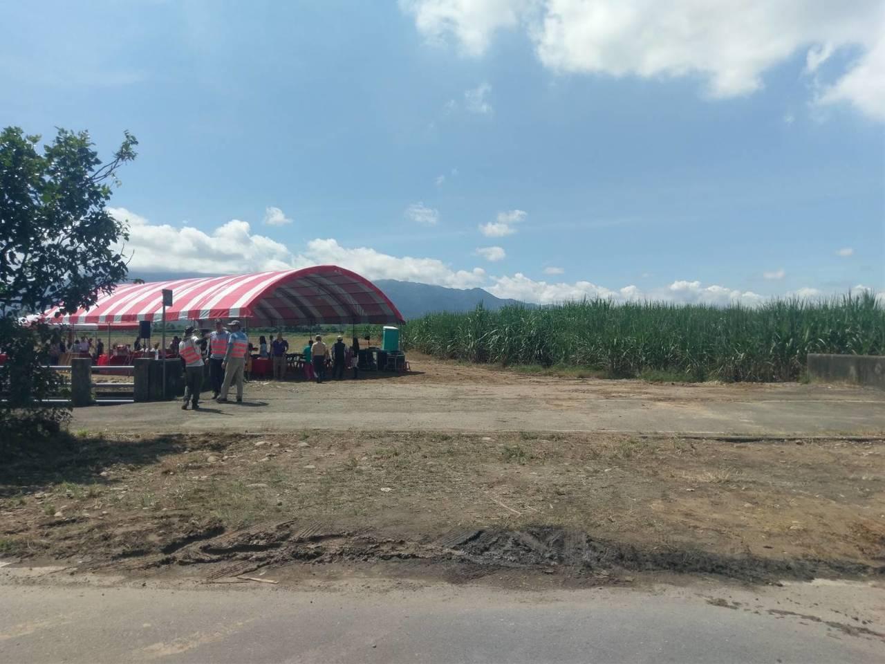 農田水利會預定在古坑麻園村建置2公頃的人工湖。圖/雲林農田水利會提供