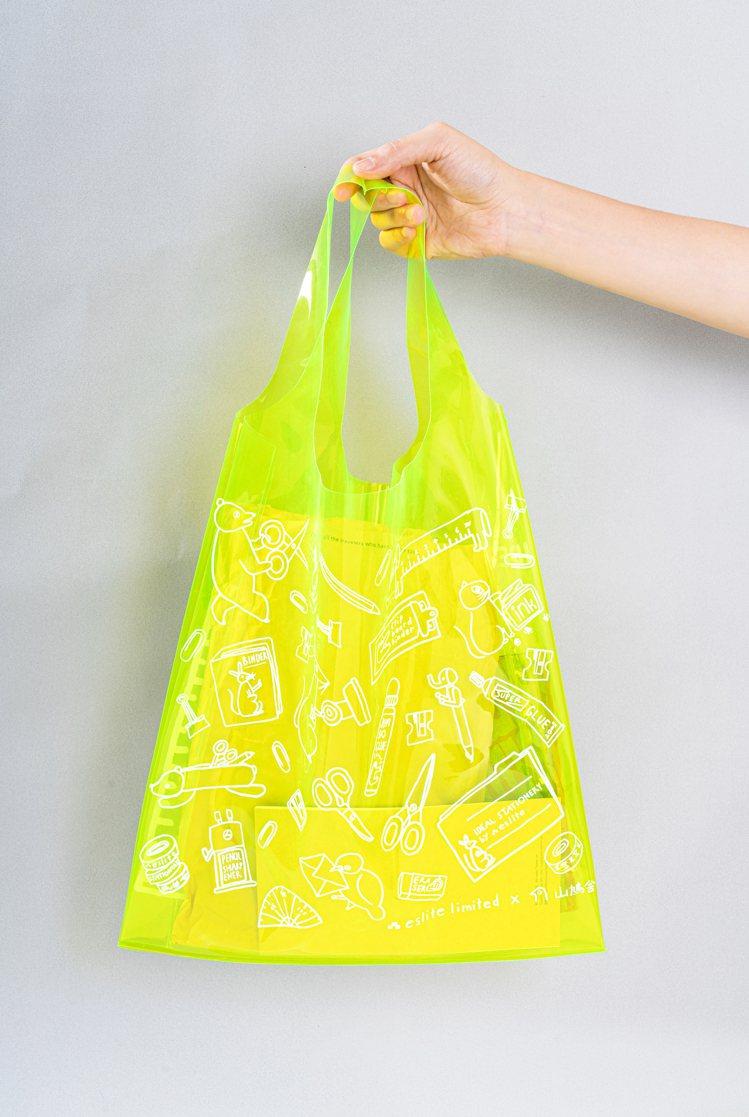 誠品書店「理想的文具」與日本插畫團隊「山鳩舍」合作打造限定專屬購物袋,特價89元...