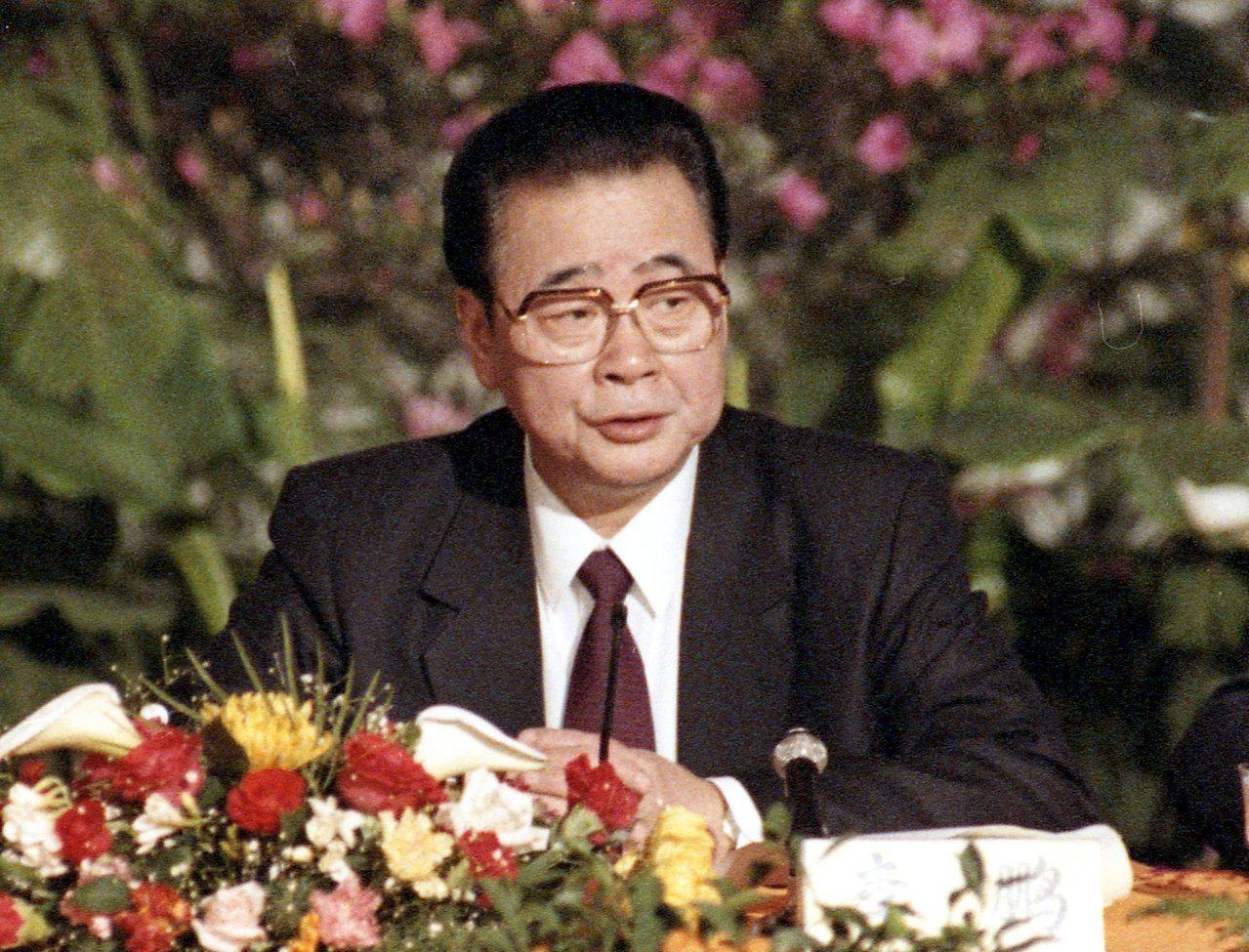 中共官媒新華社發布快訊,中共前總理李鵬逝世。圖/本報系資料照