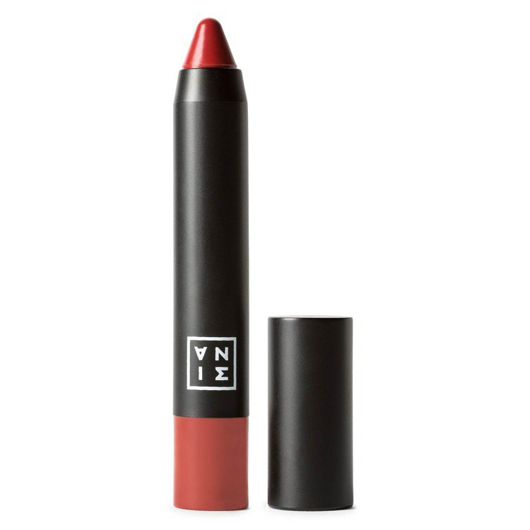3INA豐俏嘟唇筆#112番茄玫瑰,售價390元。圖/3INA提供