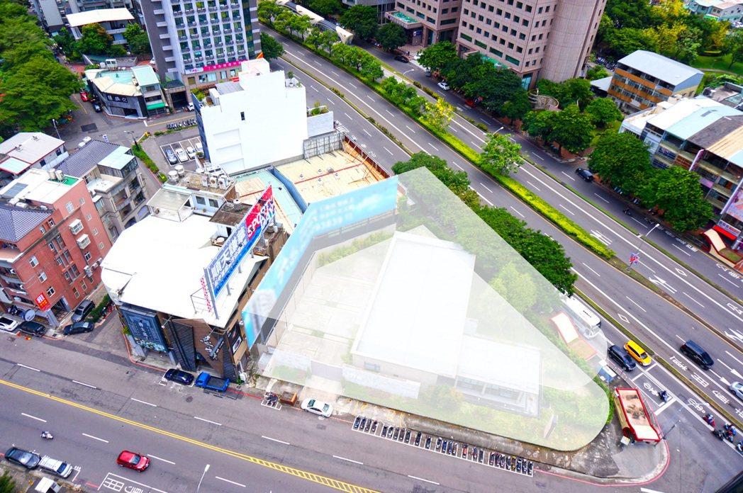 台中台灣大道、公益路482坪角地將在8/27公開標售,底價6.26億元。業者提供