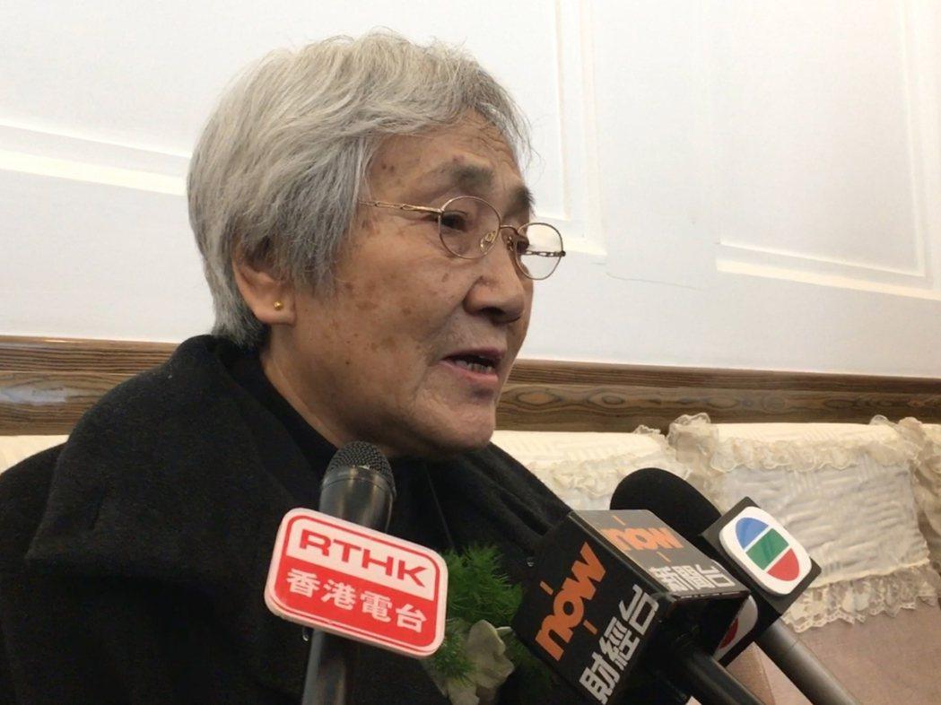 張先玲表示,對李鵬去世感到又恨又高興。(香港電台)