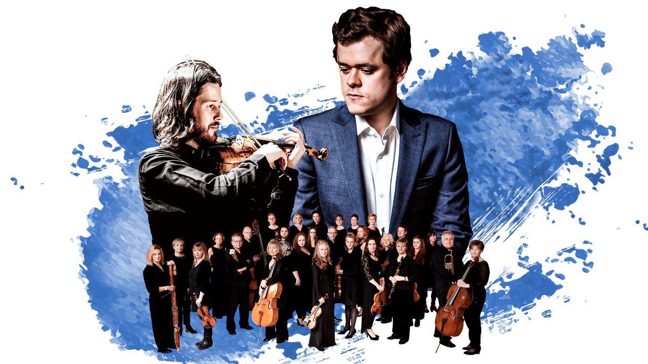 「貝多芬傳人」班傑明.葛羅斯文諾(右)和「現代小提琴怪傑」湯瑪士.顧爾德(左)與...