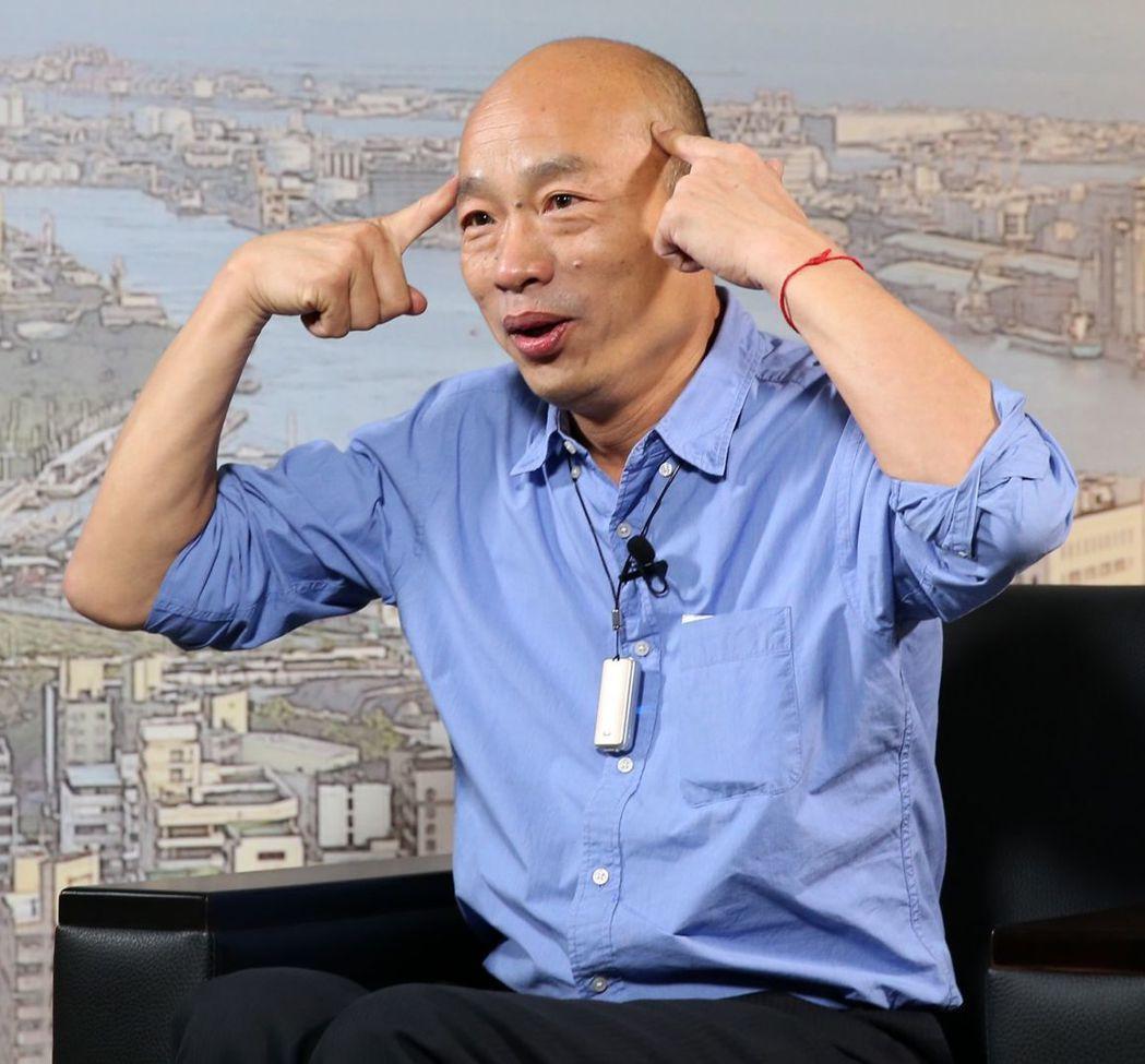 高雄市長韓國瑜23日接受聯合報專訪被問到4月間講的「權貴」,強調此時此刻國民黨迅...