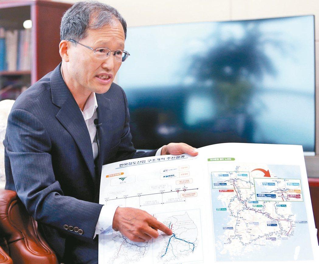 南韓機場鐵路執行長金漢榮。 記者侯永全/攝影