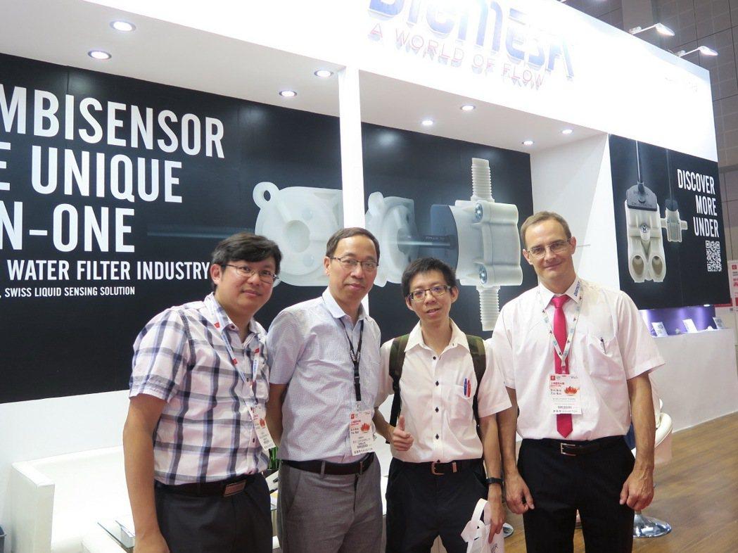 東電研參訪上海國際水展。 東電研/提供