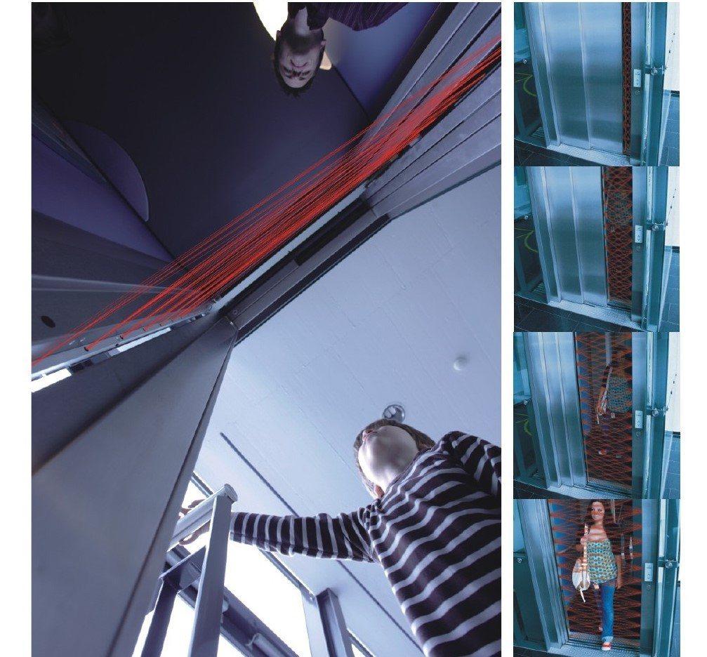 盛大電梯採用瑞士原裝進口CEDES安全光幕,可從各個不同的角度進行紅外線偵測,減...