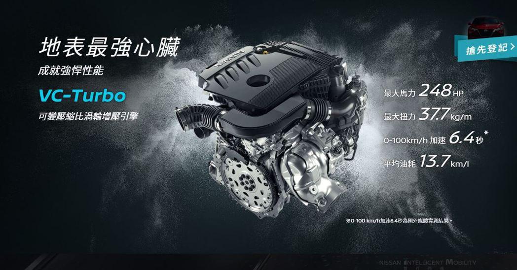 2.0升VC-Turbo可變壓縮比引擎。 摘自Nissan官方網站