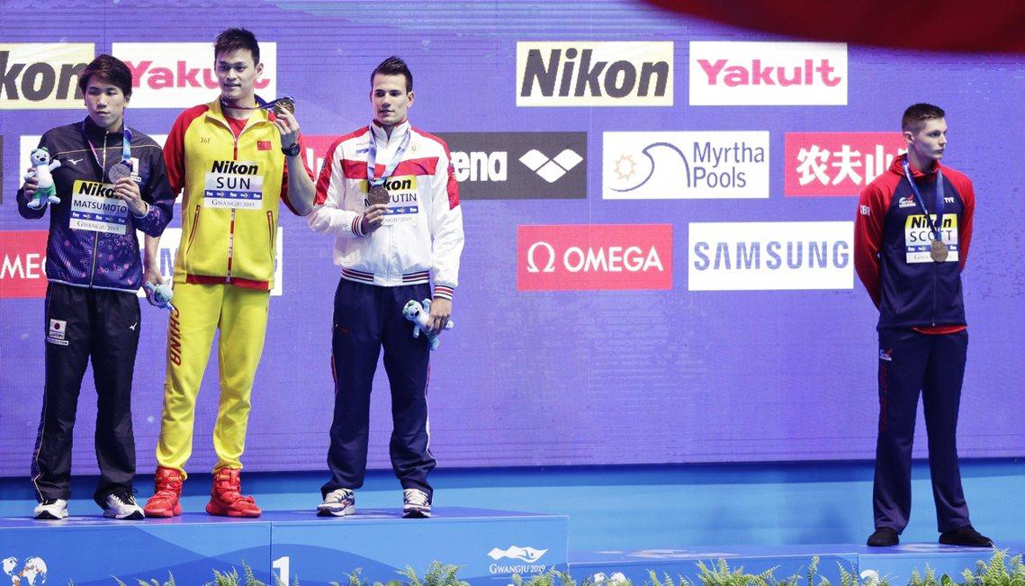 2019 世界游泳錦標賽的「抵制孫楊風波」持續延燒。23日的男子200公尺自由式...