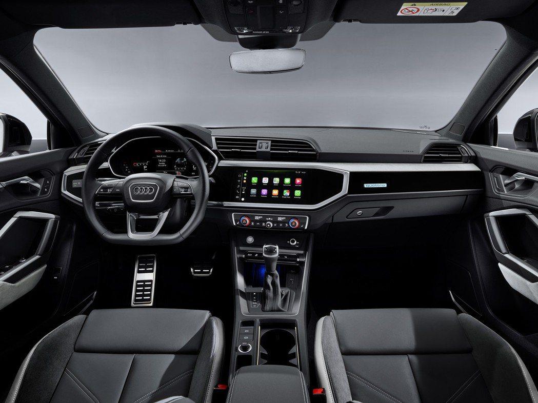 全新Audi Q3 Sportback 車室。 摘自Audi