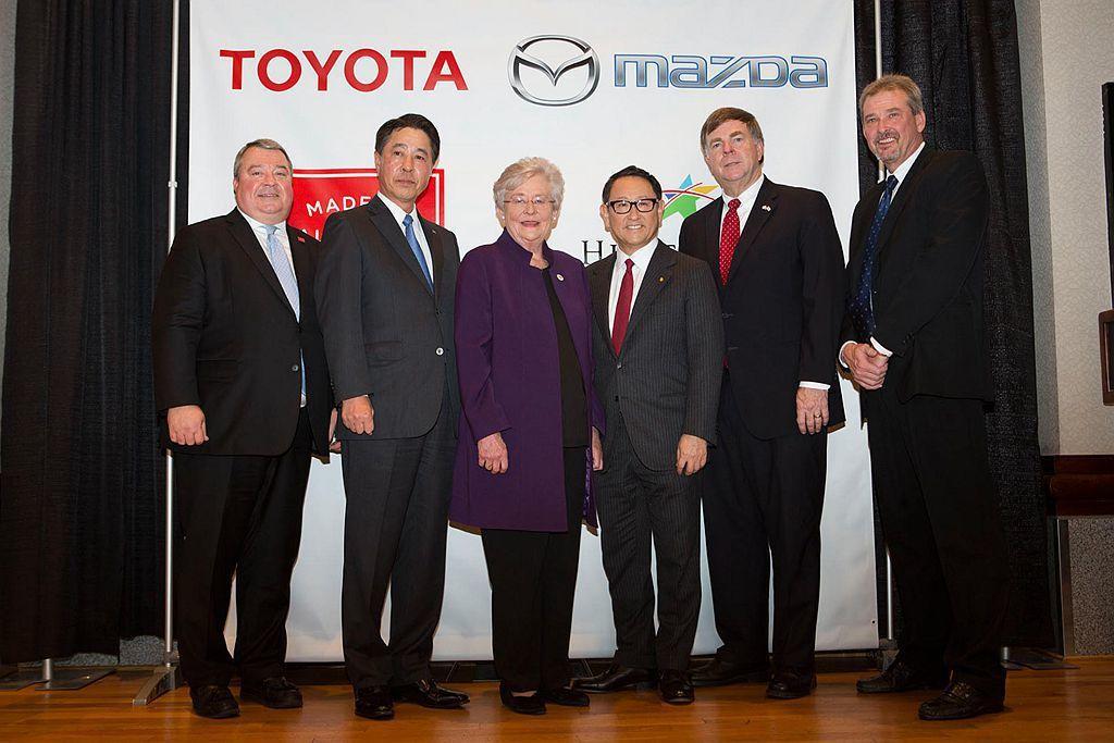 2018年Toyota與Mazda宣布各出資50%於美國阿拉巴馬州Huntsvi...