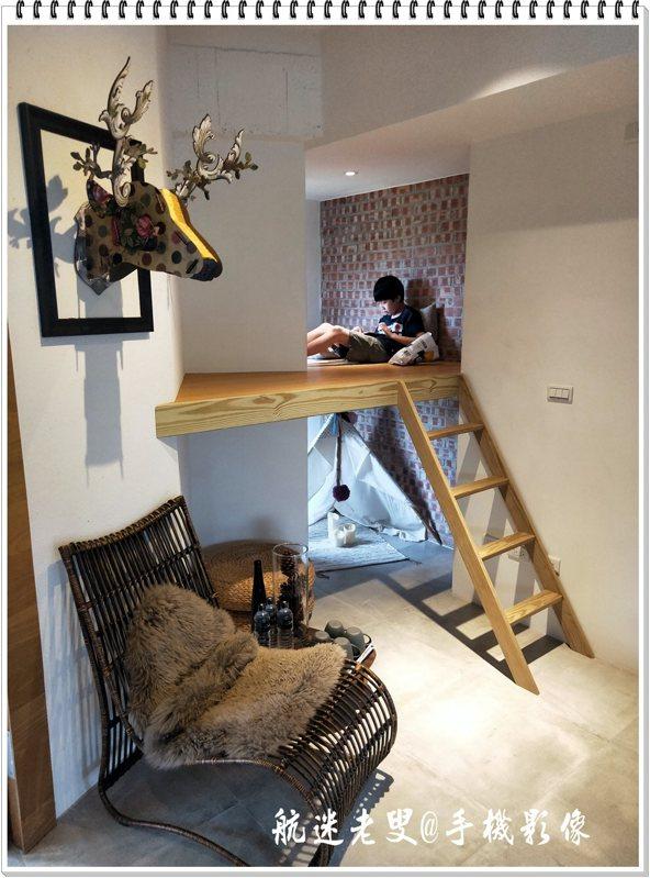 小孫子很喜歡這個小閣樓,獨處安靜有自己的一個小空間。