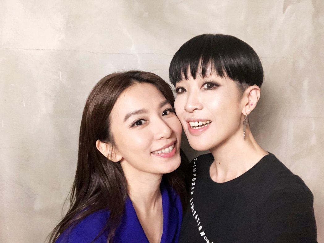 陳珊妮(右)大讚田馥甄能把批評轉化為能量。圖/何樂音樂提供