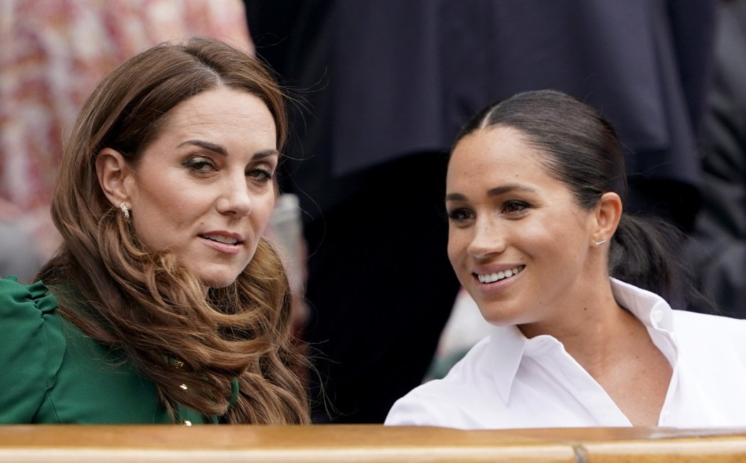 梅根與凱特一起看溫布頓網球賽,彼此不像有很嚴重的不愉快。圖/歐新社資料照片
