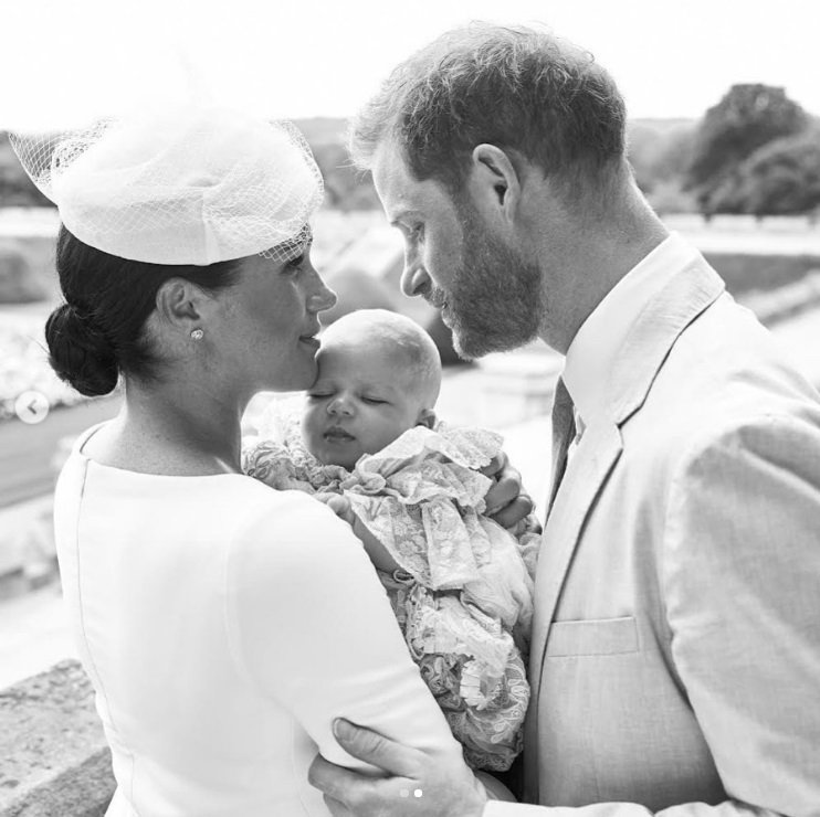 梅根和哈利王子都對兒子亞契關愛備至。圖/摘自Instagram