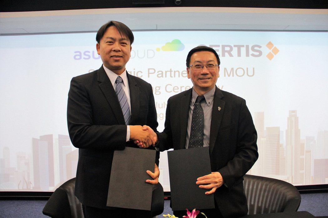 華碩雲端與新加坡Certis 集團完成合作備忘錄簽署,宣示雙方於智慧保全領域展開...