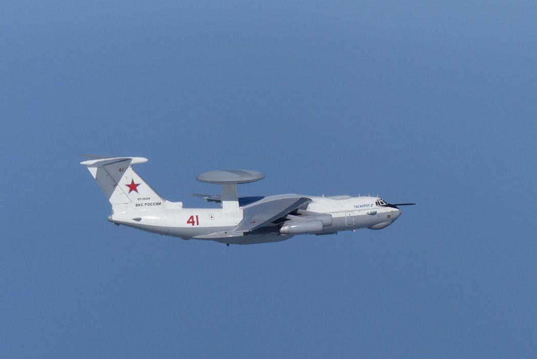 一架俄國A-50空中預警機23日逼近南韓獨島上空。路透