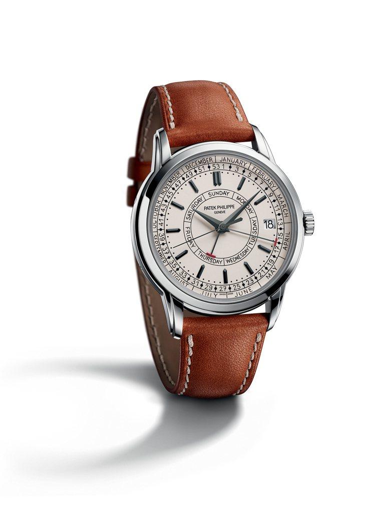 百達翡麗編號5212A-001週曆不鏽鋼腕表,101萬8,000元。圖/百達翡麗...
