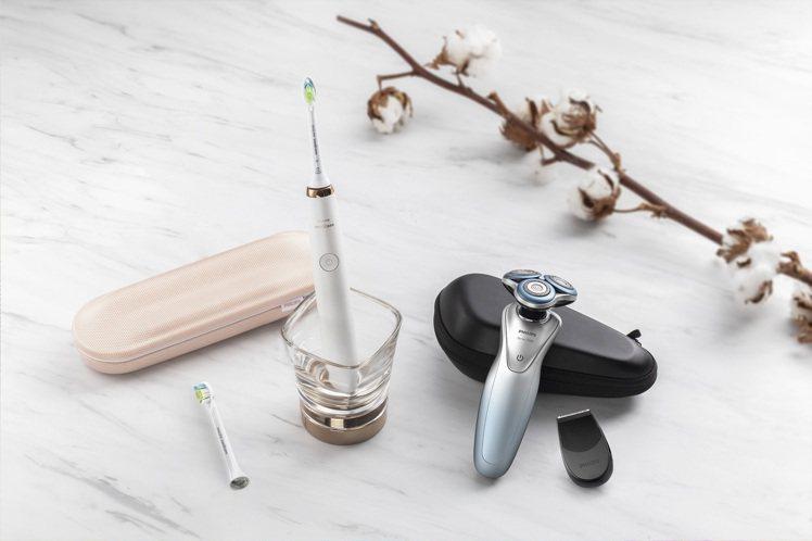 飛利浦智能淨級組合,買君爵系列電鬍刀S7910新品,送鑽石靚白音波震動牙刷HX9...