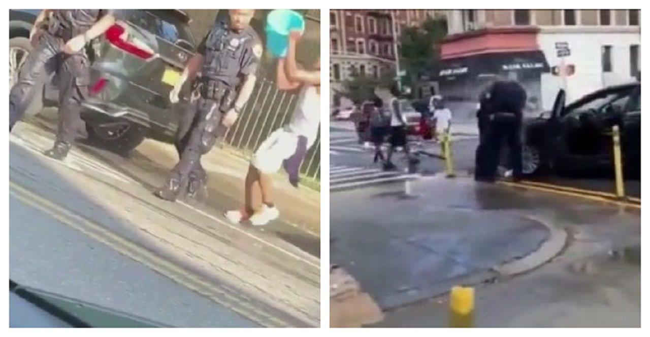 美國紐約市上周末受到熱浪襲擊,布魯克林與曼哈頓哈林區卻分別發生執勤員警遭到有心人...