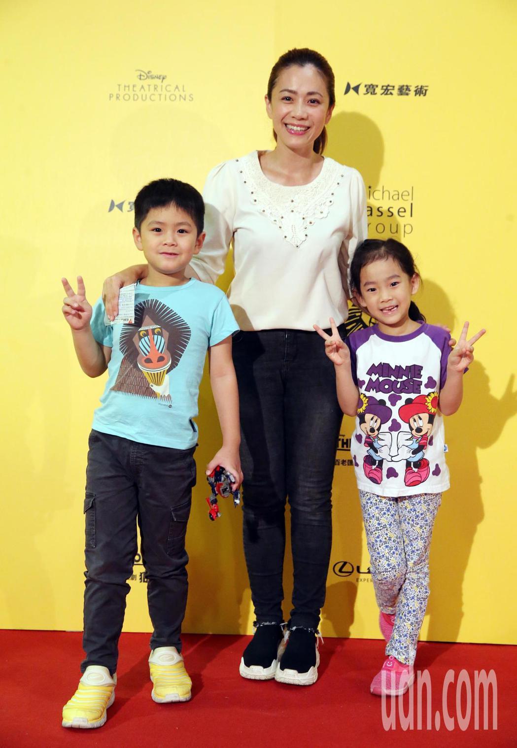 柯以柔今晚帶著小朋友觀賞音樂劇 《獅子王》。記者徐兆玄/攝影