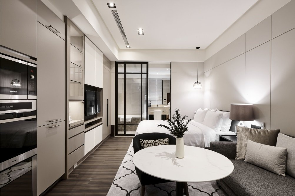 「PARK 259」酒店式公寓每坪租金突破4000元大關。圖/新美齊提供
