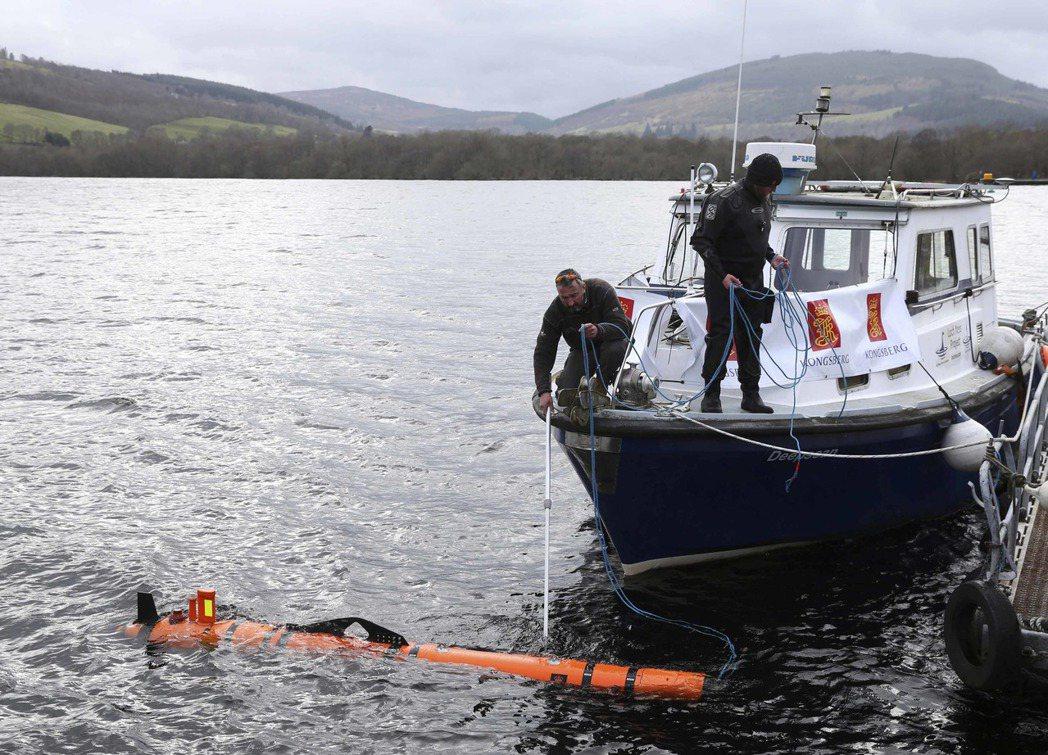 研究人員2016年使用先進的水底探測器發現尼斯湖湖底真的有「水怪」,後來證實是大...