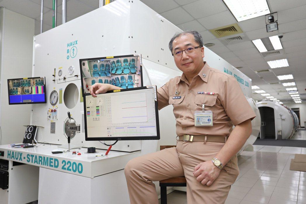 國軍高雄總醫院左營分院擁有國內少見的多人高壓氧艙外,日前在微軟AI研發中心協助,...