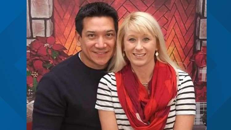埃斯皮諾薩(左)與妻子喬安娜上周末在馬州一朋友家做客時,埃斯皮諾薩中槍身亡。(取...