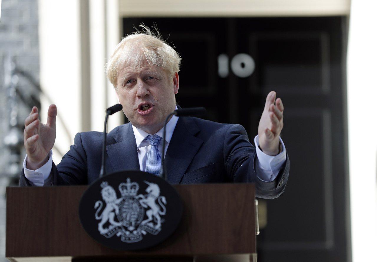 英國新任首相強生(Boris Johnson)。 美聯社