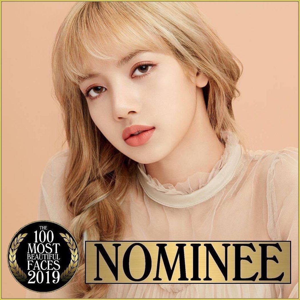 BLACKPINK的Lisa也在2019年百大最美臉孔提名名單中。 圖/擷自TC...