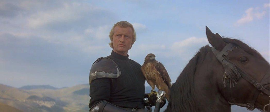 魯格豪爾在「鷹女」中,難得扮演正派勇士。圖/摘自imdb