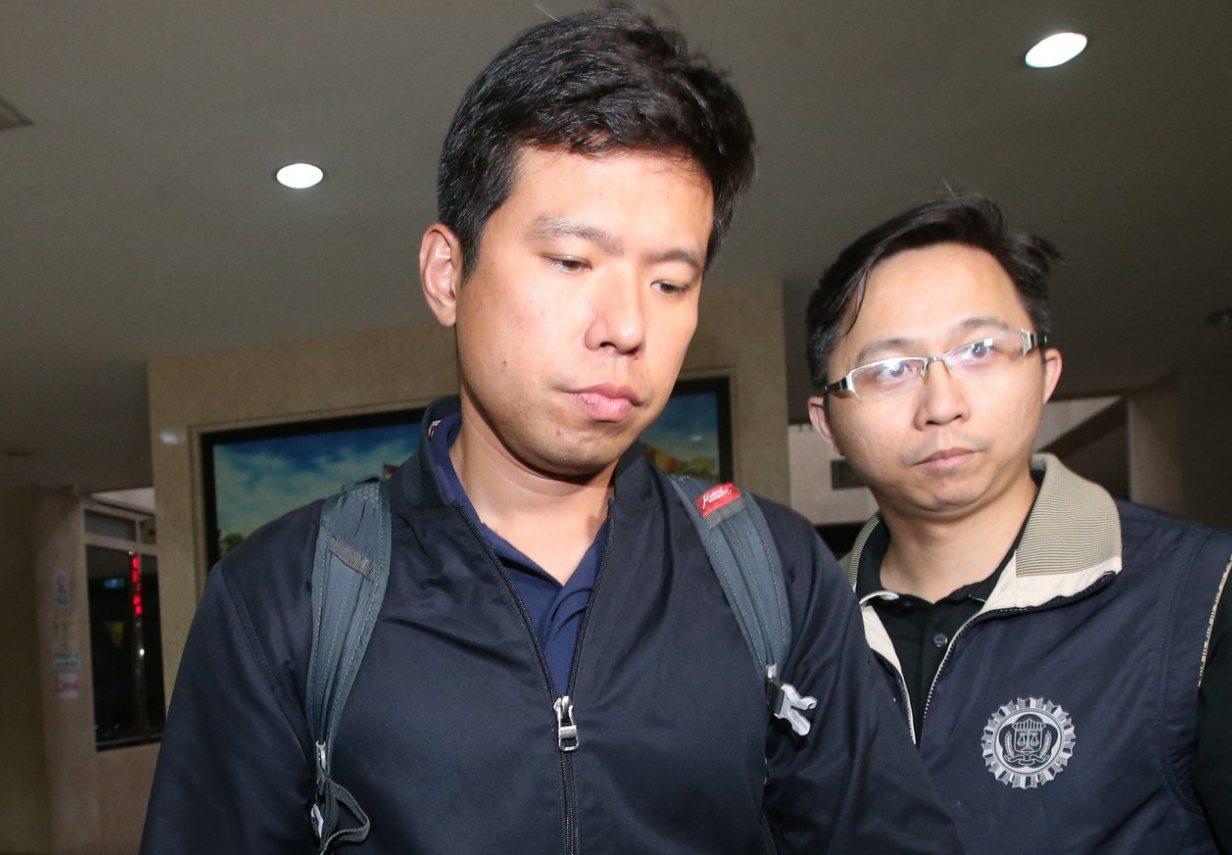總統官邸警衛室少校吳宗憲(左)遭收押。聯合報資料照片 記者葉信菉/攝影