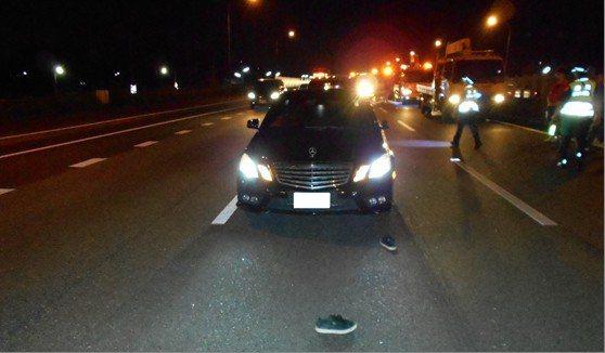 中山高速公路北上257.8公里處昨晚9點多發生死亡車禍。記者李京昇/翻攝