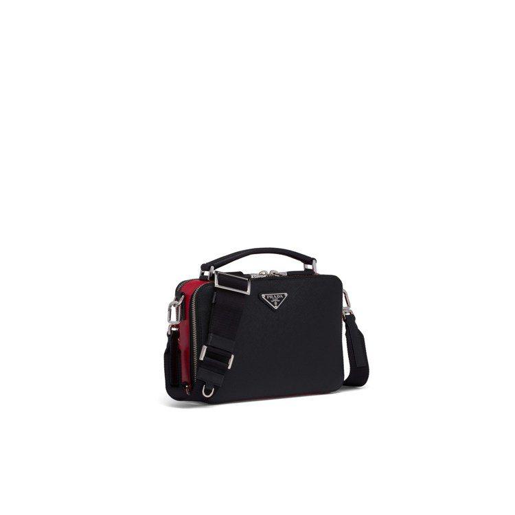 Prada Brique七夕情人節系列肩背包(黑色),54,500