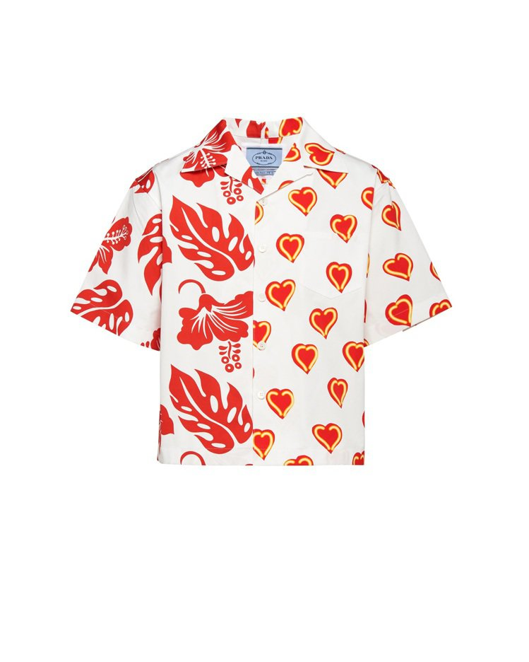 雙重印花襯衫,36,000元(男款)。圖/Prada提供