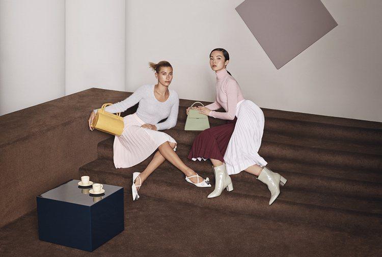 CHARLES & KEITH今年秋冬則邀請超模擔任品牌代言,包含海莉比伯(Ha...