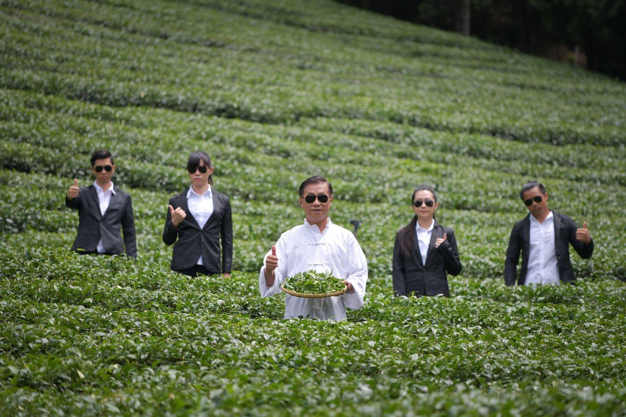 南投縣長林明溱更親自代言宣傳廣告,扮演茶葉達人「茶伯」在茶山上找茶,更在茶廠揉功...