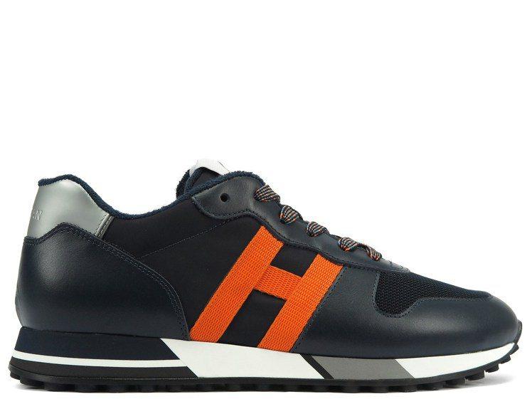 HOGAN H383撞色皮革男士休閒鞋,15,000元。圖/迪生提供