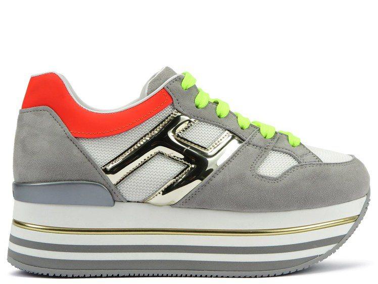 HOGAN Maxi H222撞色厚底女士休閒鞋,22,000元。圖/迪生提供