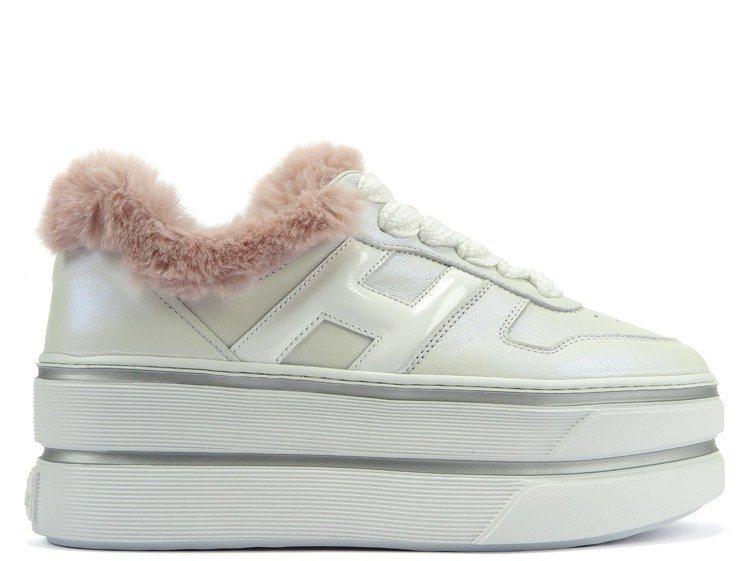 HOGAN Maxi Cassetta山羊皮厚底女士休閒鞋,20,600元。圖/...