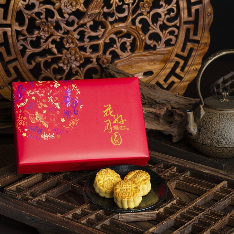 年年熱賣的燕窩奶黃月餅。圖/香格里拉台北遠東提供