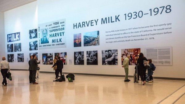 舊金山機場重新整修後,以「哈維米爾克」命名,即日起啟用。圖/舊金山機場提供