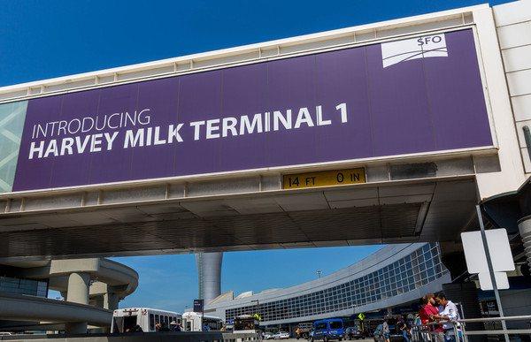 舊金山國際機場重命名為哈維米爾克第一航廈。圖/舊金山機場提供