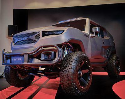 Rezvani Tank採用全防彈設計,展現未來主義的裝甲車風格。這款車源於以設...