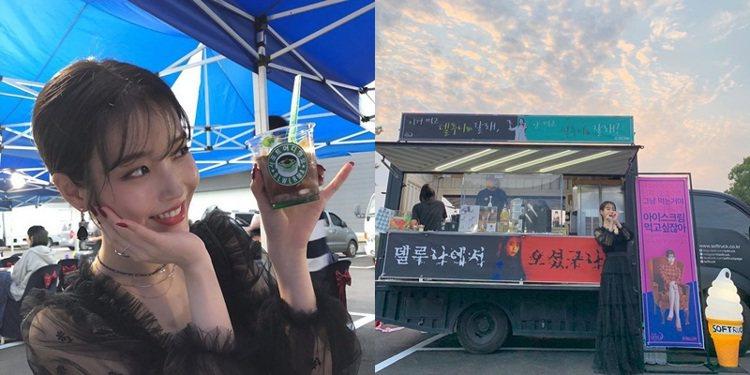 應援餐車是韓國演藝圈的文化。圖/擷自instagram