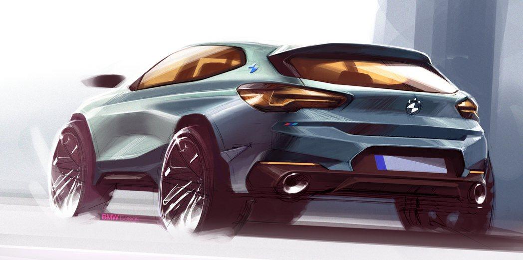 BMW全新小休旅車名據傳可能命名為「Urban X」。圖為BMW X2設計草圖。...