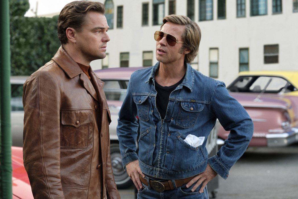 李奧納多狄卡皮歐與布萊德彼特在「從前,有個好萊塢」有許多精彩對手戲。圖/摘自im...