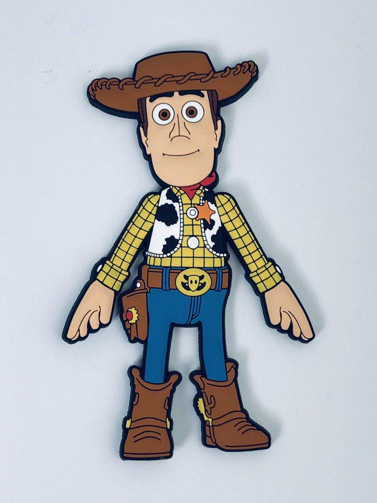 7-ELEVEN獨家販售的「玩具總動員4」硅膠吸鐵吊飾掛勾,每款售價249元。圖...