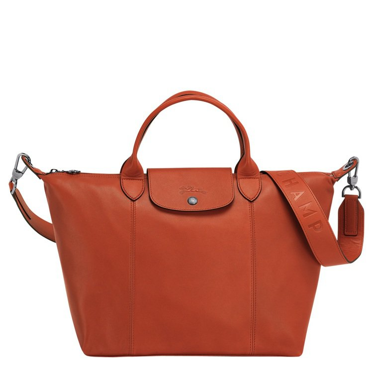 Le Pliage Cuir銹色中型手提包,售價23,200元。圖/LONGCH...